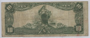 1902 $10 Note Charter #9007 Signed: S.M. Shackleford, Cash. and J.S. Reese, Pres.
