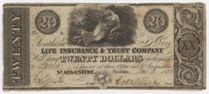 "1836 $20 ""A"" Plate Note"