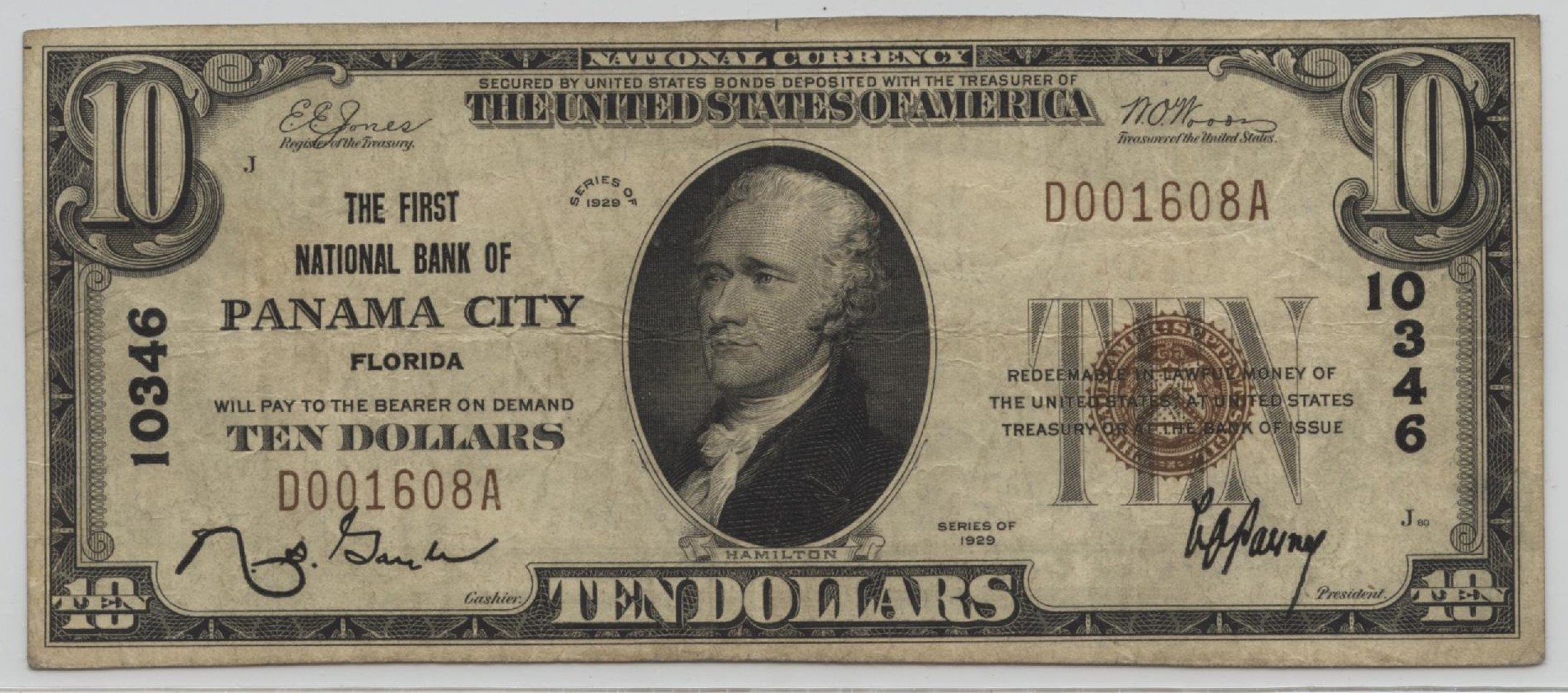 1929 Type 1 10 Note Charter 10346