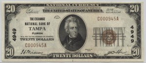 1929 Type 1 $20 Note Charter #4949