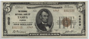 1929 Type 2 $5 Note Charter #4949