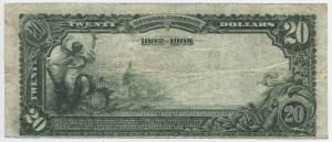 1902 Date Back $20 Note Signed Upchurch, Cash. and Lane, Pres. Charter #S6888