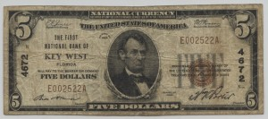 1929 Type 1 $5 Note Charter #4672