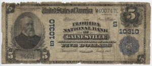 1902 Plain Back $5 Note Charter #S10310