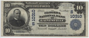 1902 Plain Back $10 Note Charter #S10310