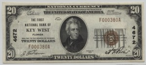 1929 Type 1 $20 Note Charter #4672