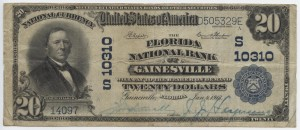 1902 Plain Back $20 Note Charter #S10310