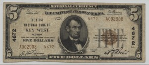 1929 Type 2 $5 Note Charter #4672