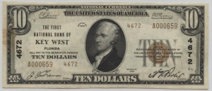 1929 Type 2 $10 Note Charter #4672