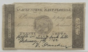 1862 .25 Cent Note