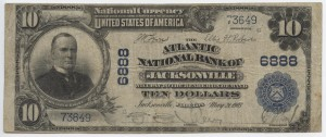 1902 Plain Back $10 Note Signed G.E. Therry, Cash. and Lane, Pres. Charter #6888