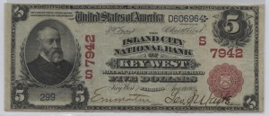 1902 Red Seal $5 Note Charter #7942