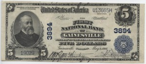 1902 Plain Back $5 Note Charter #3894