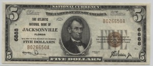 1929 Type 1 $5 Note Charter #6888