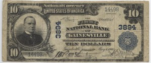 1902 Plain Back $10 Note Charter #3894
