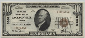 1929 Type 1 $10 Note Charter #6888