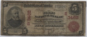 1902 Red Seal $5 Note Charter #3462