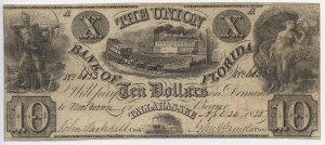 1835 $10 A Plate Note