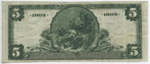 1902 Date Back $5 Note Charter #7942