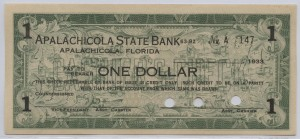 1933 Apalachicola State Bank $1