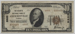 1929 Type 2 $10 Note Charter #6888