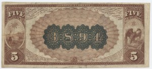 1882 Brown Back $5 Note Charter #3894