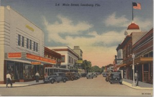 Main Street in Leesburg, FL. Post Card