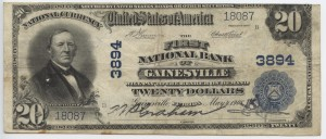 1902 Plain Back $20 Note Charter #3894
