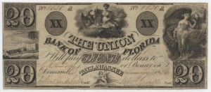 1836 $20 A Plate Note