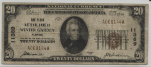 1929 Type 1 $20 Note Charter #11389