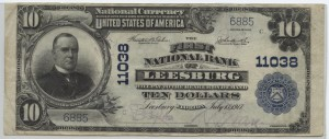 1902 Plain Back $10 Note Charter #11038