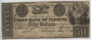 1836 $50 A Plate Note