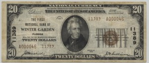 1929 Type 2 $20 Note Charter #11389