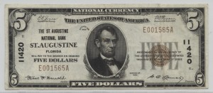 1929 Type 1 $5 Note Charter #11420