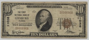 1929 Type 1 $10 Note Charter #11038