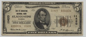 1929 Type 2 $5 Note Charter #11420