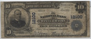 1902 Plain Back $10 Note Charter #12100