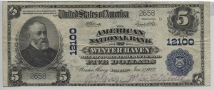 1902 Plain Back $5 Note D. Gray, Cash. & Max E. Viertel, Pres. Charter #12100