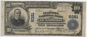 1902 Plain Back $10 Note Signed J.A. Newsome and A.F. Perry Pres. Charter #8321