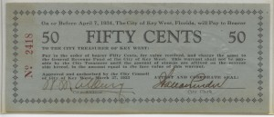 1933 Key West .50 Cent Scrip