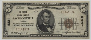 1929 Type 1 $5 Note Signed Wakefield, Cash. and DuPont, Pres. Charter #8321