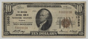 1929 Type 1 $10 Note Charter #13383