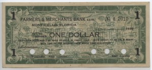 1933 Farmers & Merchants Bank $1