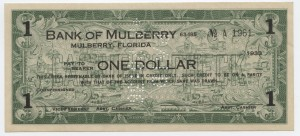 1933 Bank of Mulberry $1
