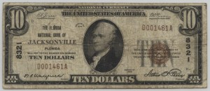 1929 Type 1 $10 Note Signed Wakefield, Cash. and Perry, Pres. Charter 8321