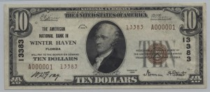 1929 Type 2 $10 Note Charter #13383