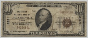1929 Type 1 $10 Note Signed Wakefield, Cash. and Avent, Pres.  Charter #8321
