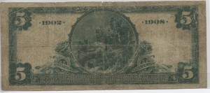 1902 Date Back $5 Note Charter #9707