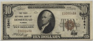 1929 Type 1 $10 Note Charter #13641