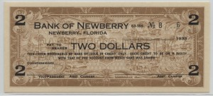 1933 Bank of Newberry $2